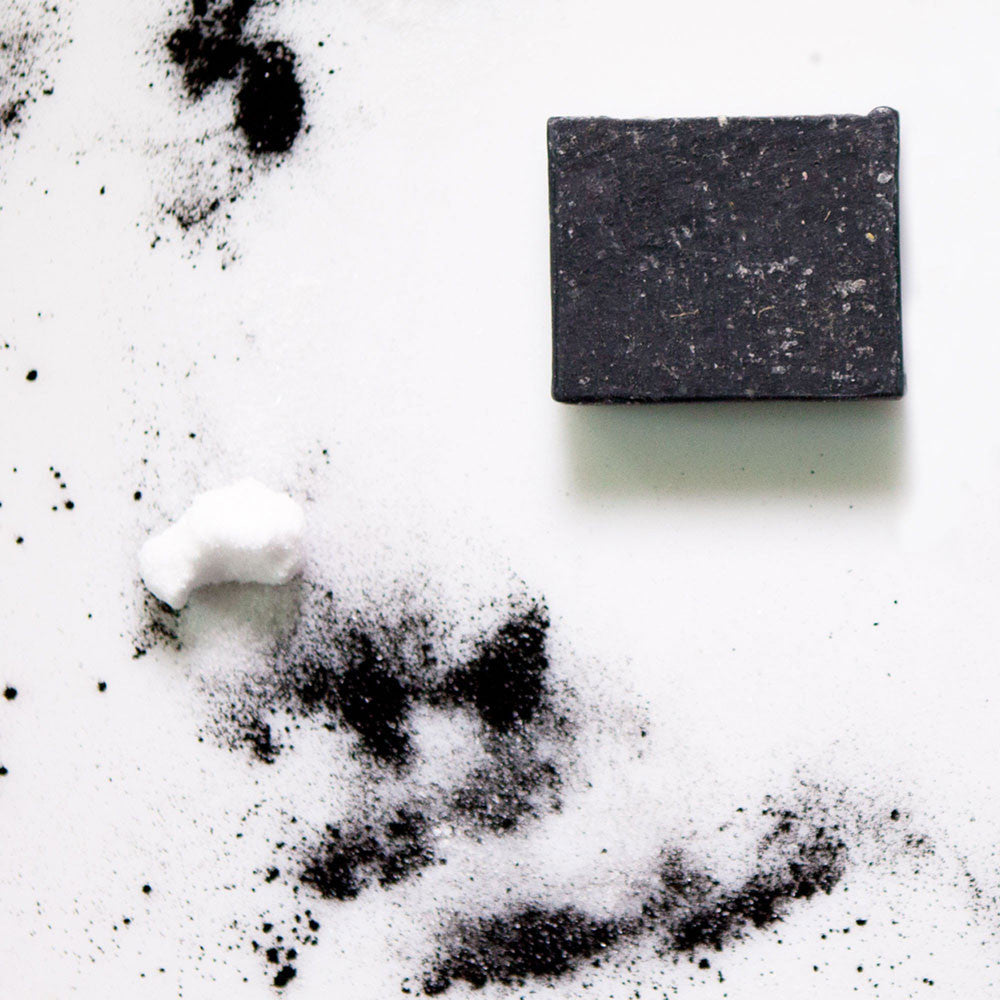 apoterra activated charcoal + dead sea salt complexion soap