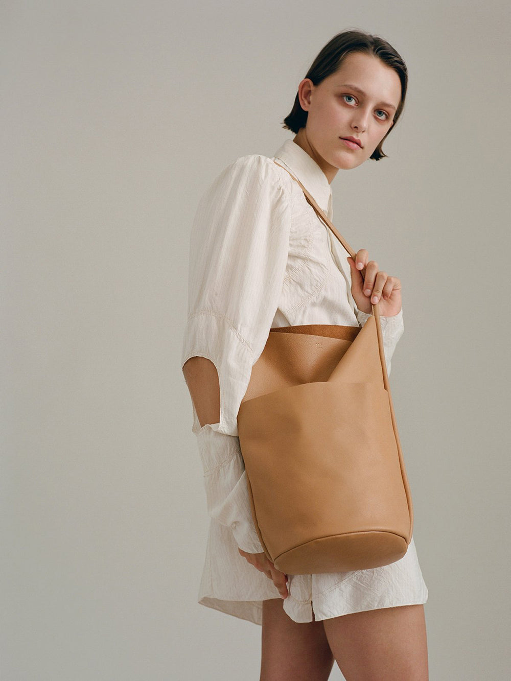are studio buoy bag in tan