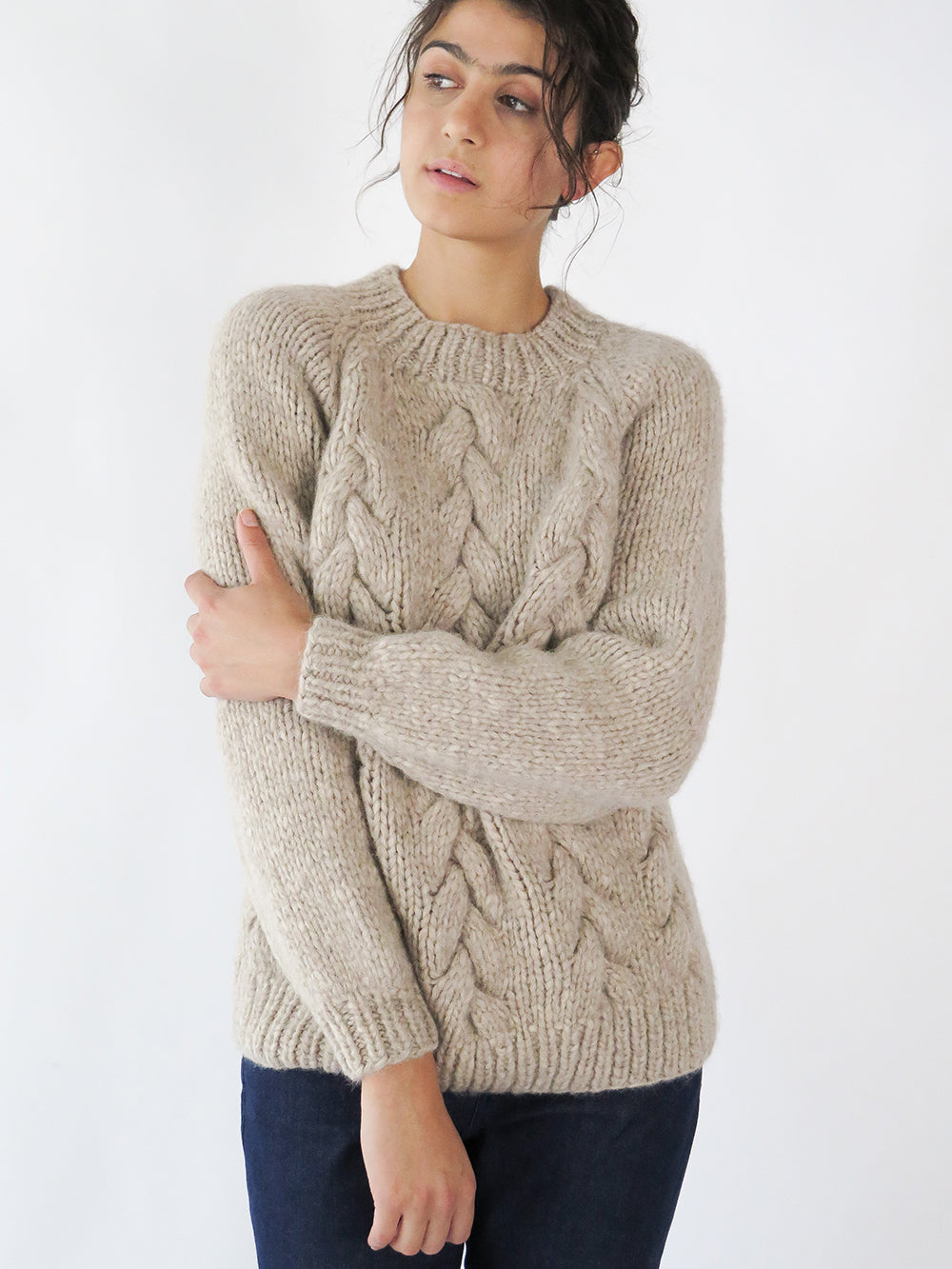 aymara sublime chunky sweater in camel
