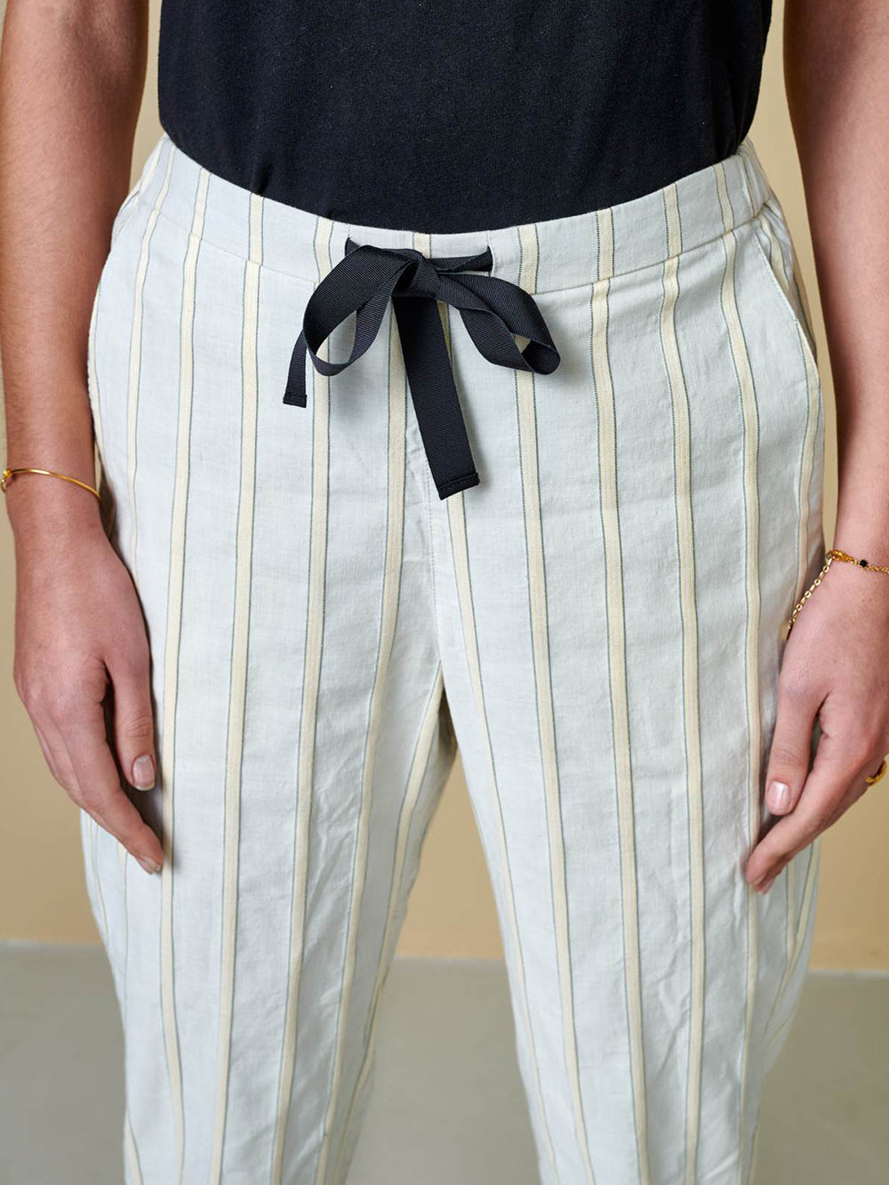bellerose vael pant in stripe b