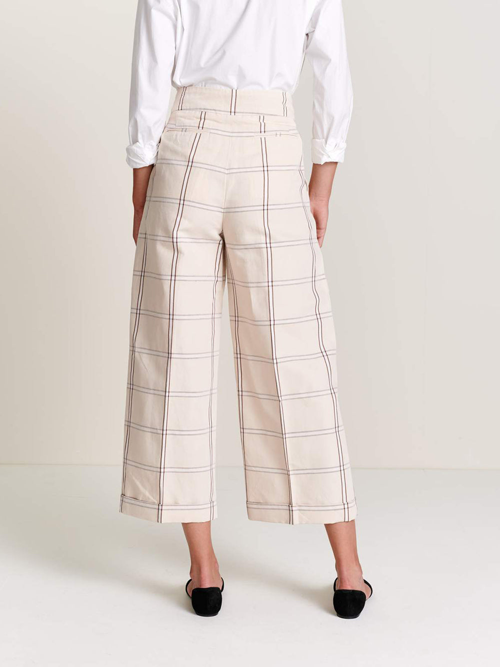bellerose vincent pant in check a