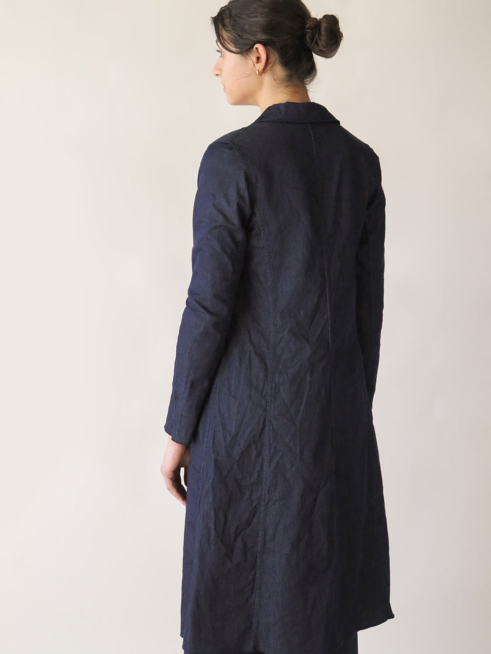 baudelaire coat in denim