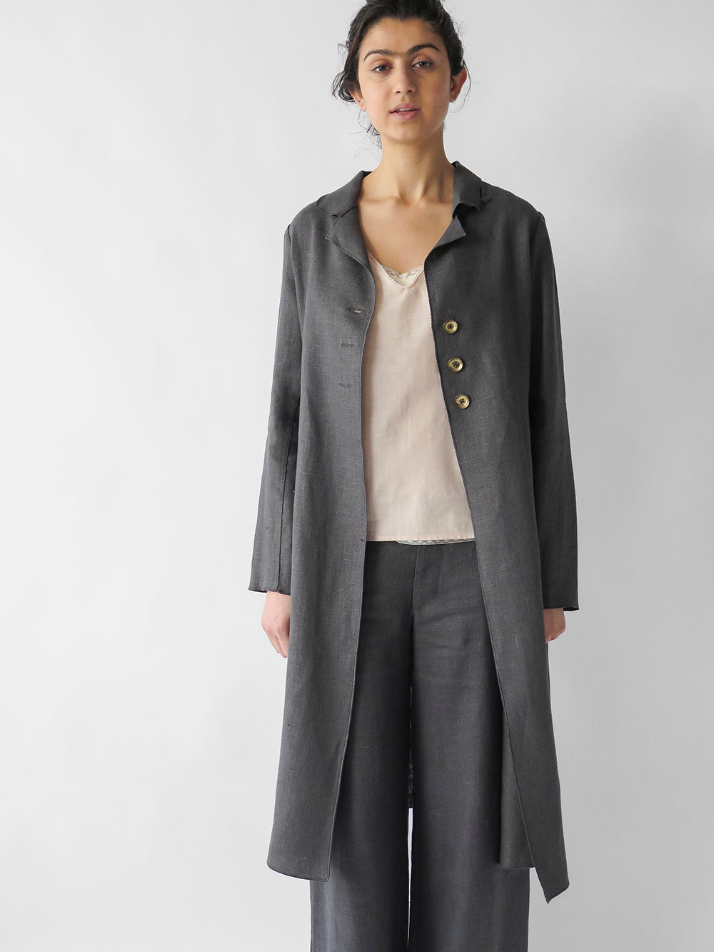baudelaire coat in cinder