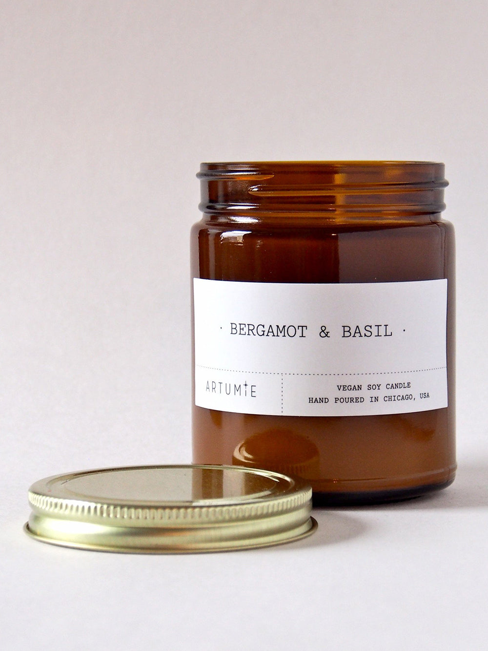 artumie studio bergamont and basil candle