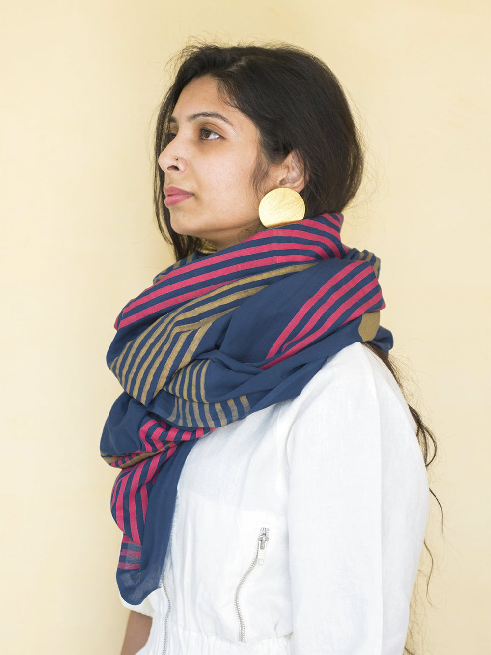 block shop gemini scarf in navy