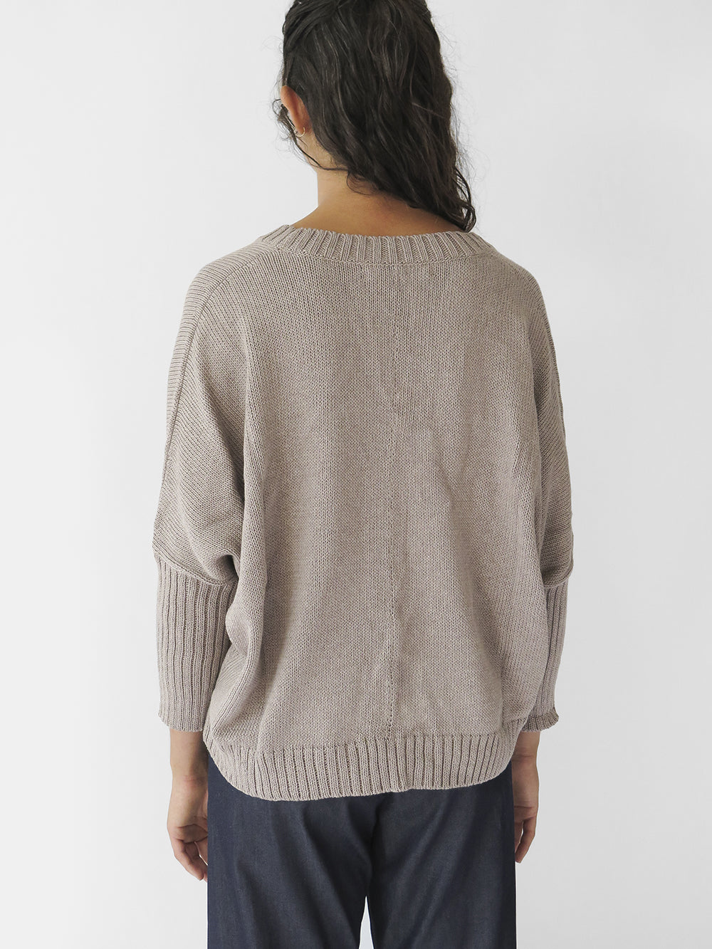 organic cotton box cardigan