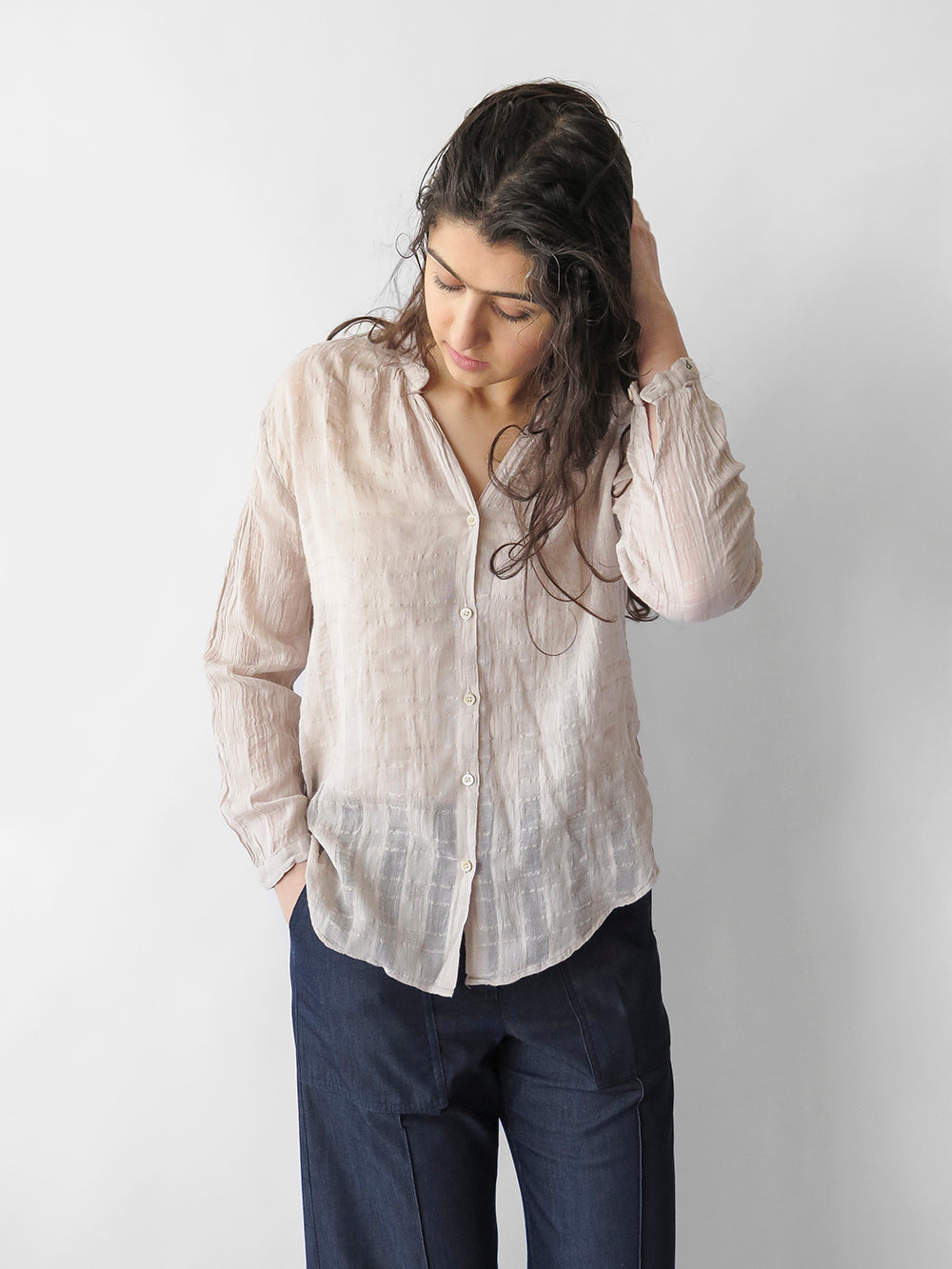 bsbee orchard shirt in white sand