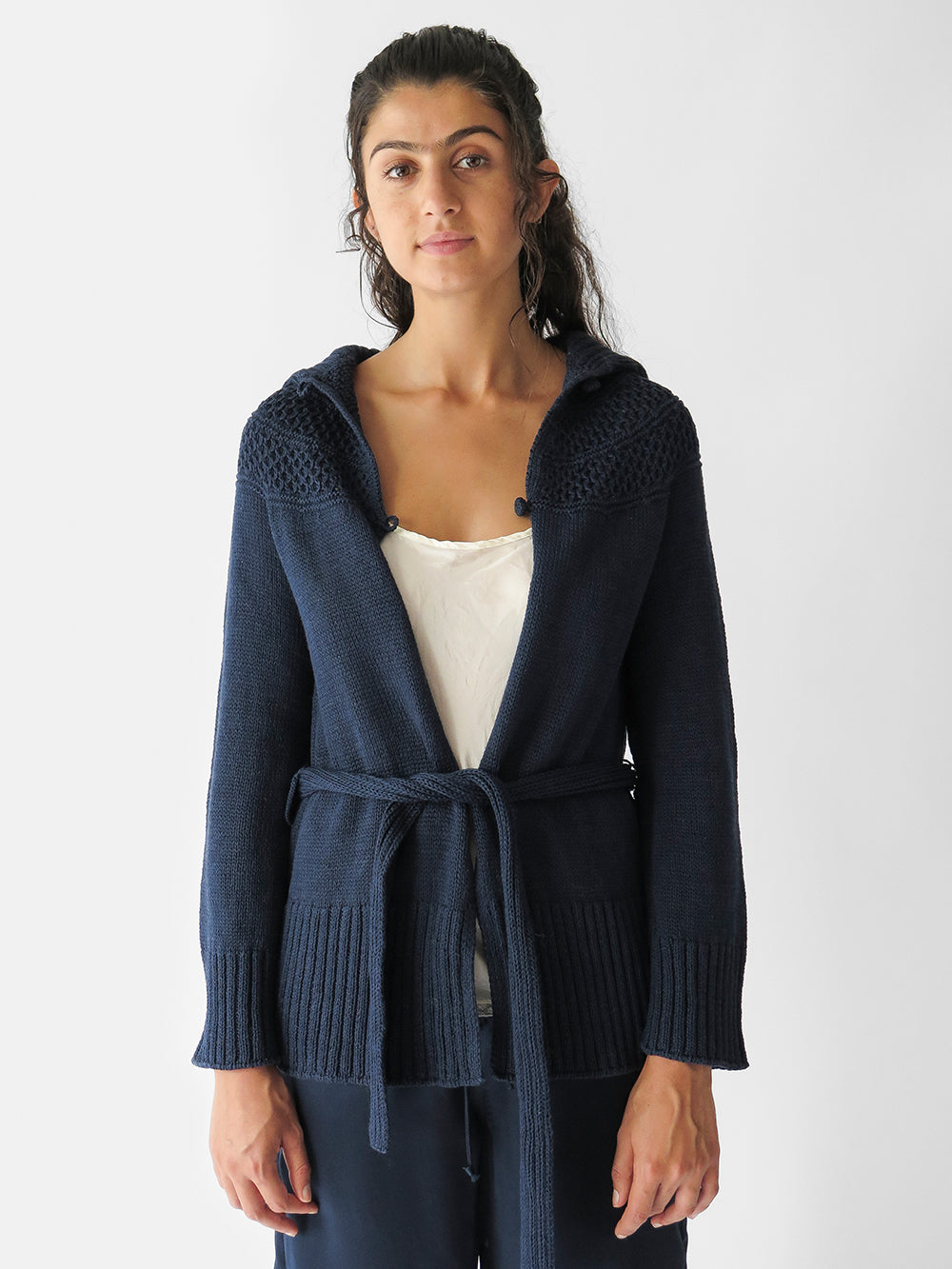 signature big collar cardigan