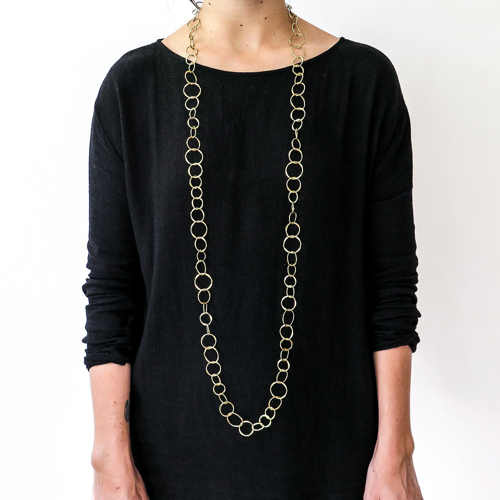 brass chain necklace
