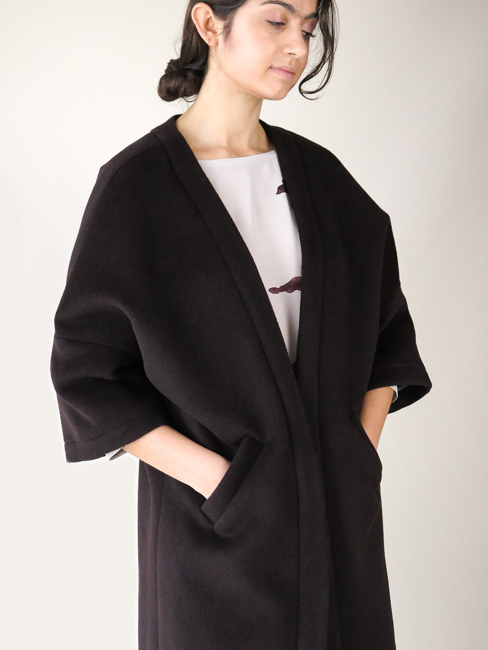 clyde coat in paen black