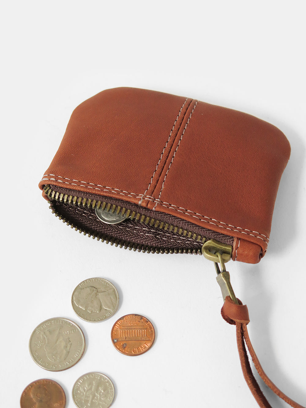 elodie coin purse in whiskey