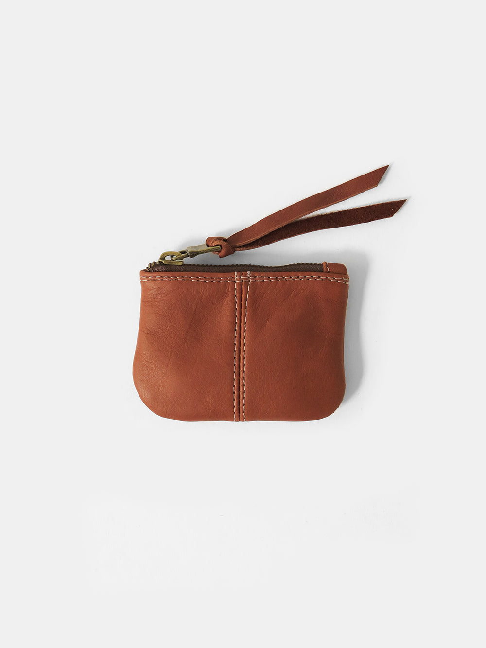 leather coin purse in whiskey