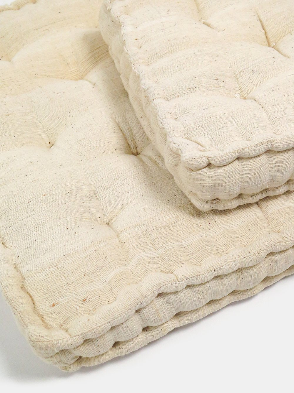 hand-tufted khadi cotton seat cushion