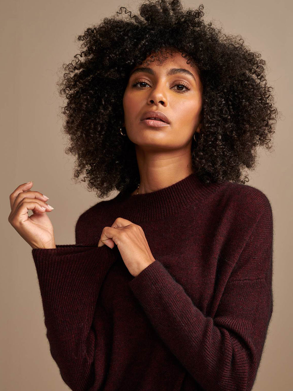 bellerose dernie sweater in burgundy