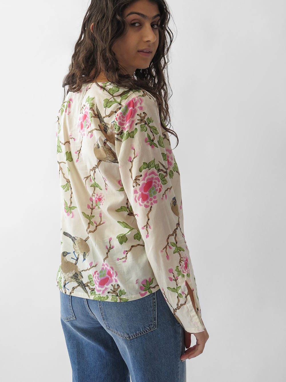 lovebird diego blouse in natural