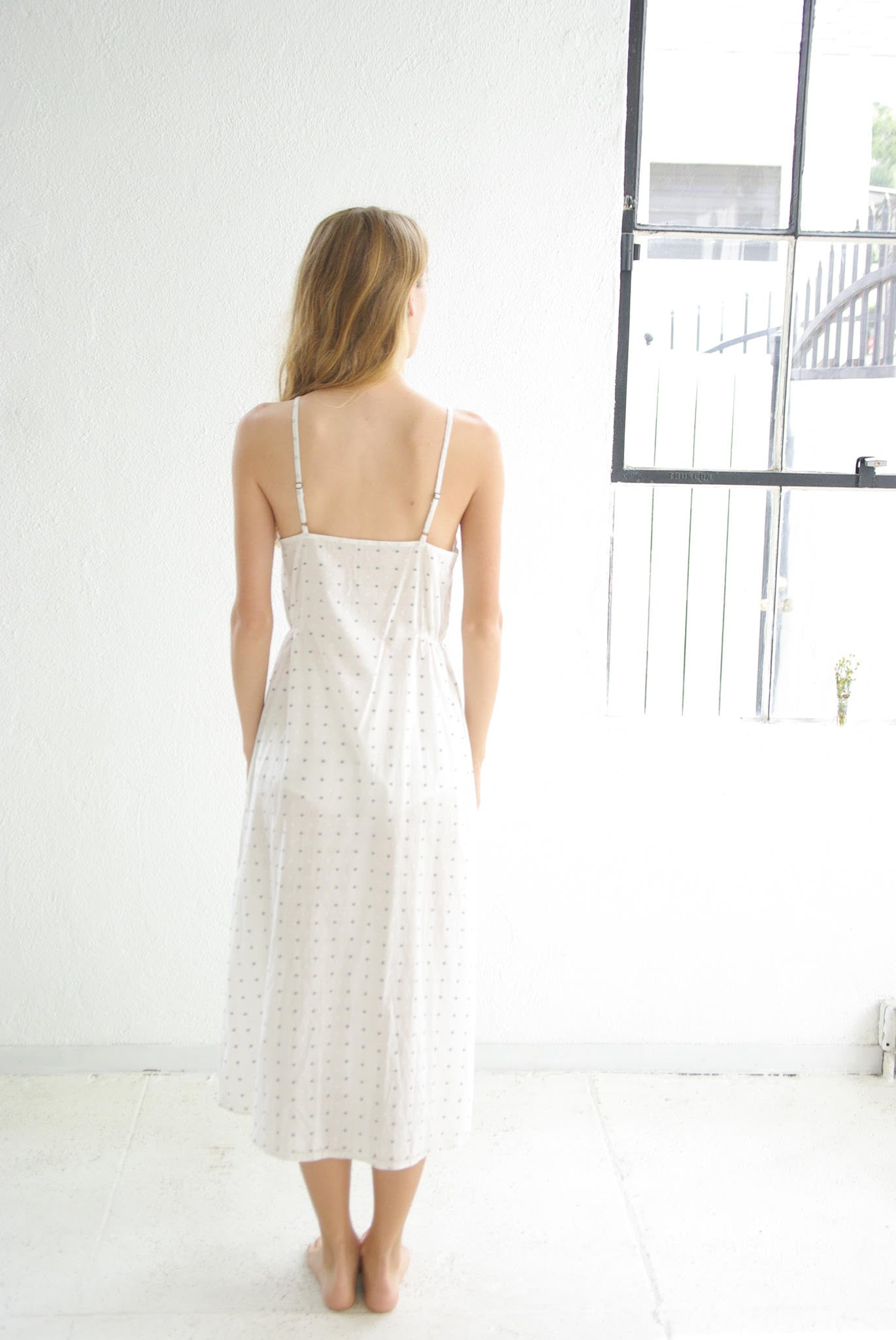 domi organic cotton slip in koi dot