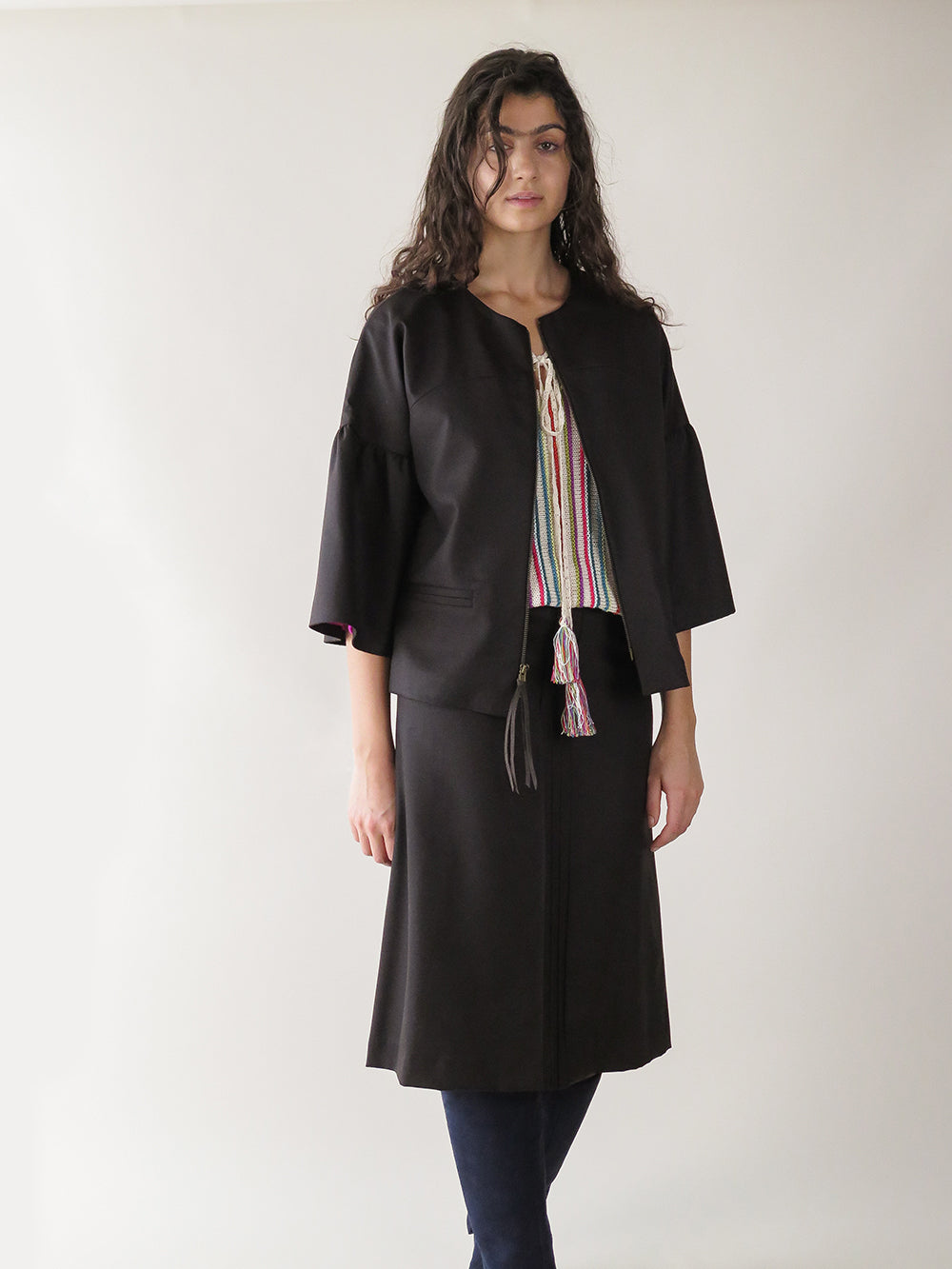 emile skirt in paen black