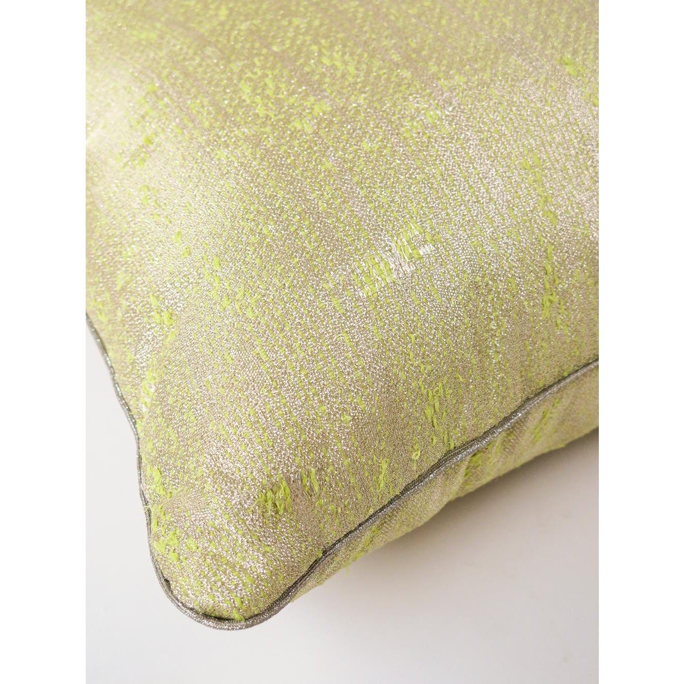 tapestry throw pillow in reverse lichen