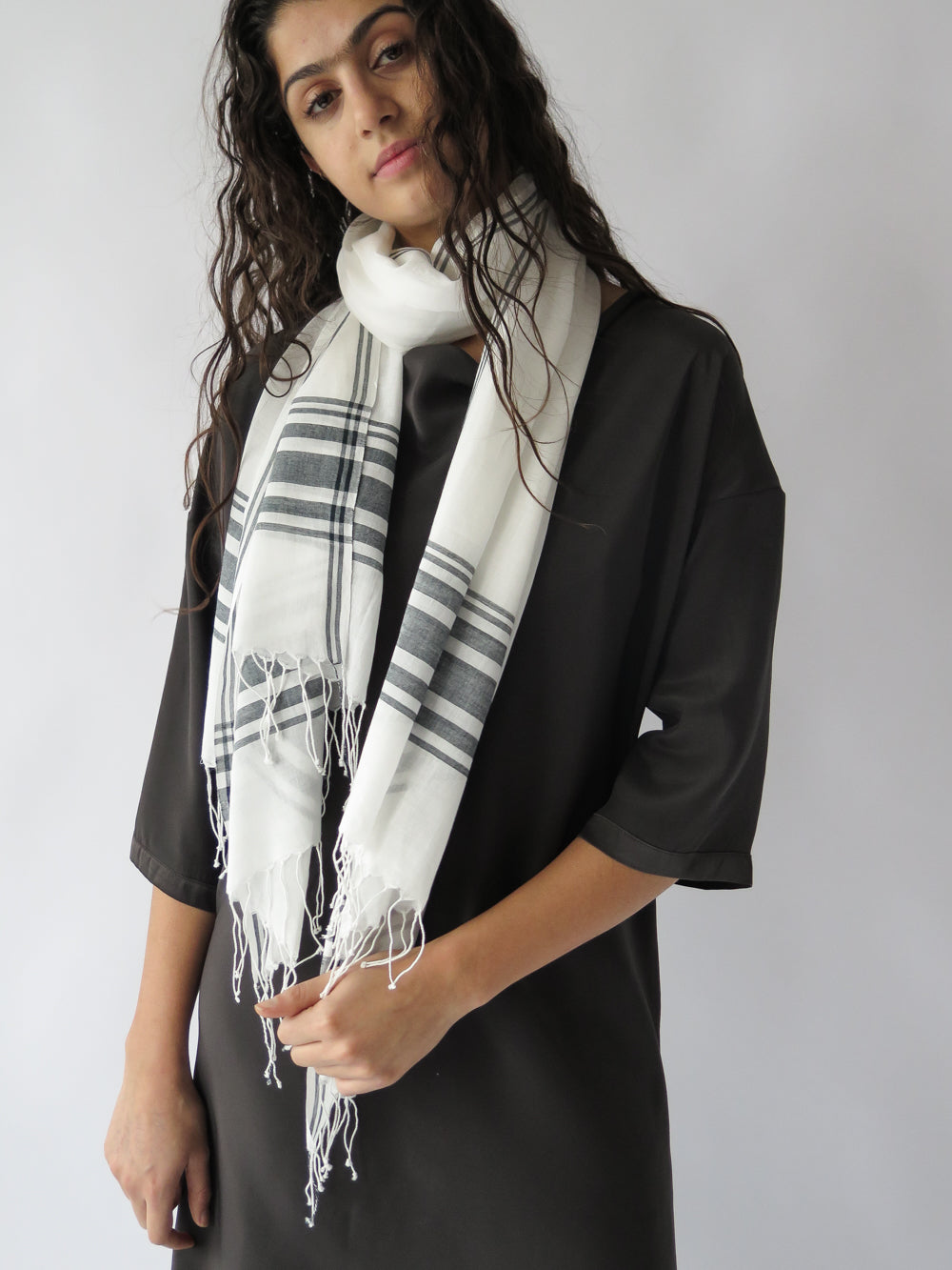 erica tanov x bloom + give cotton scarf