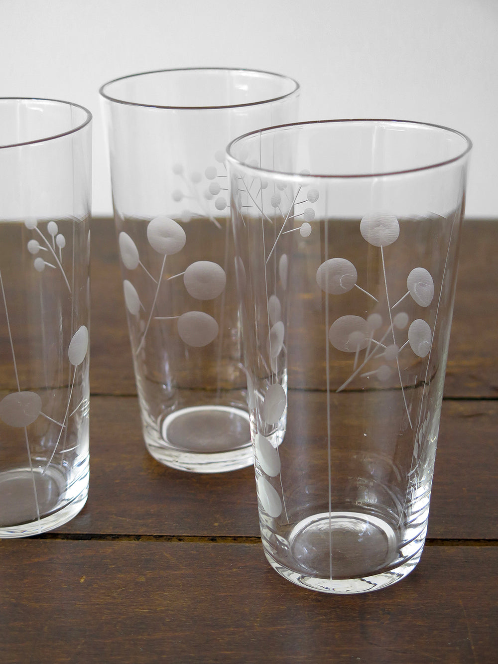 etched berry glasses