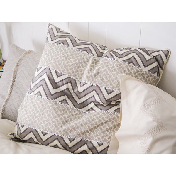 patchwork euro throw pillow