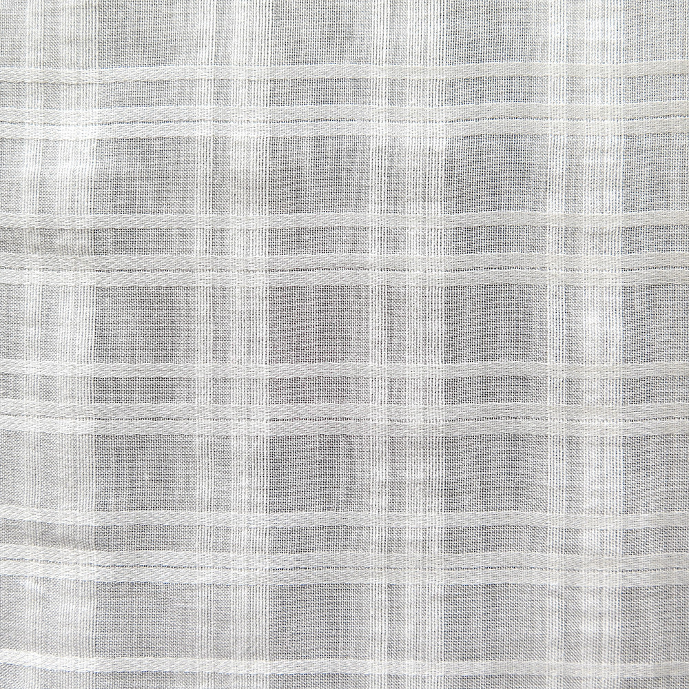 ivory plaid voile