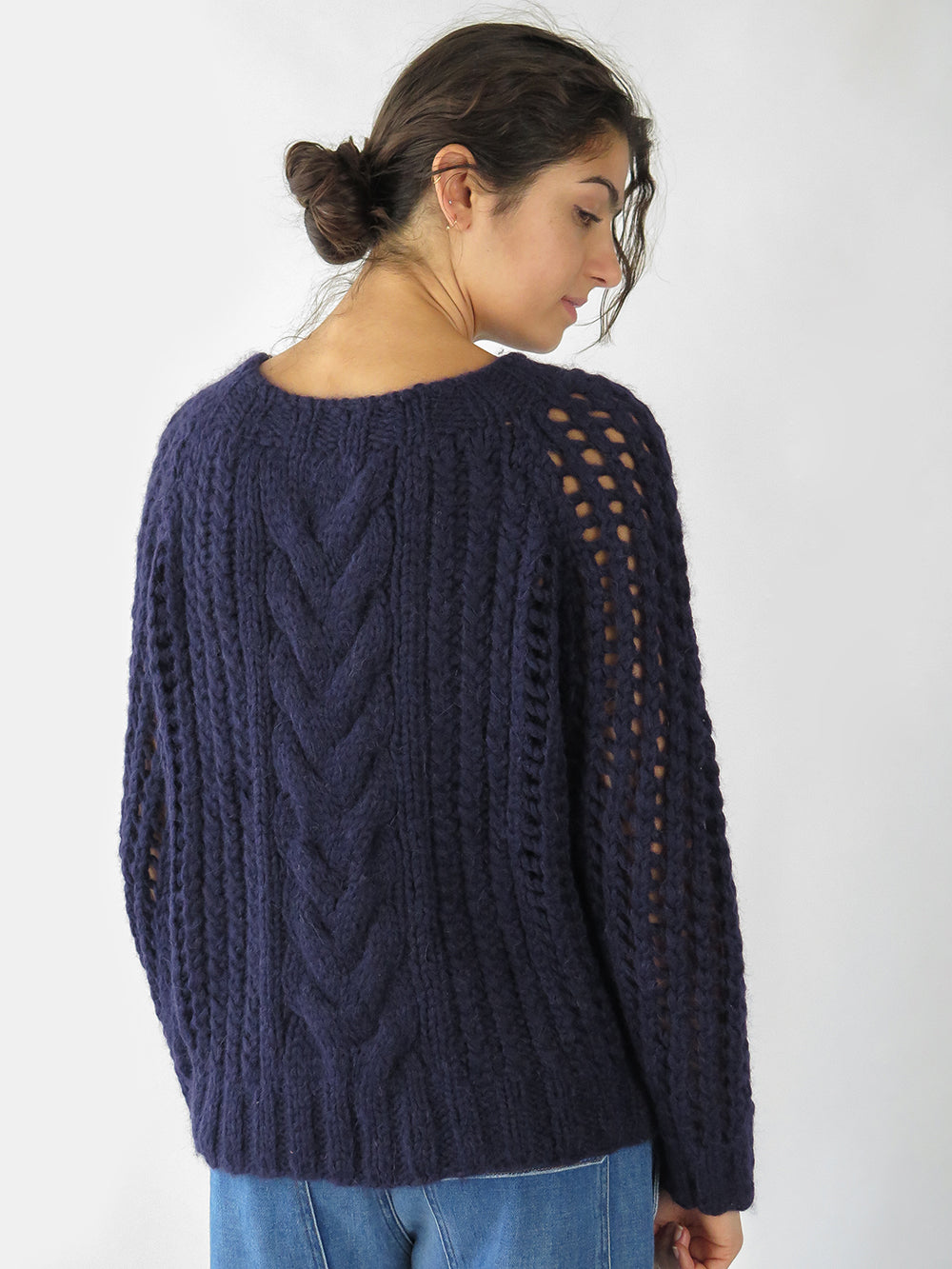 fisherwoman sweater in navy