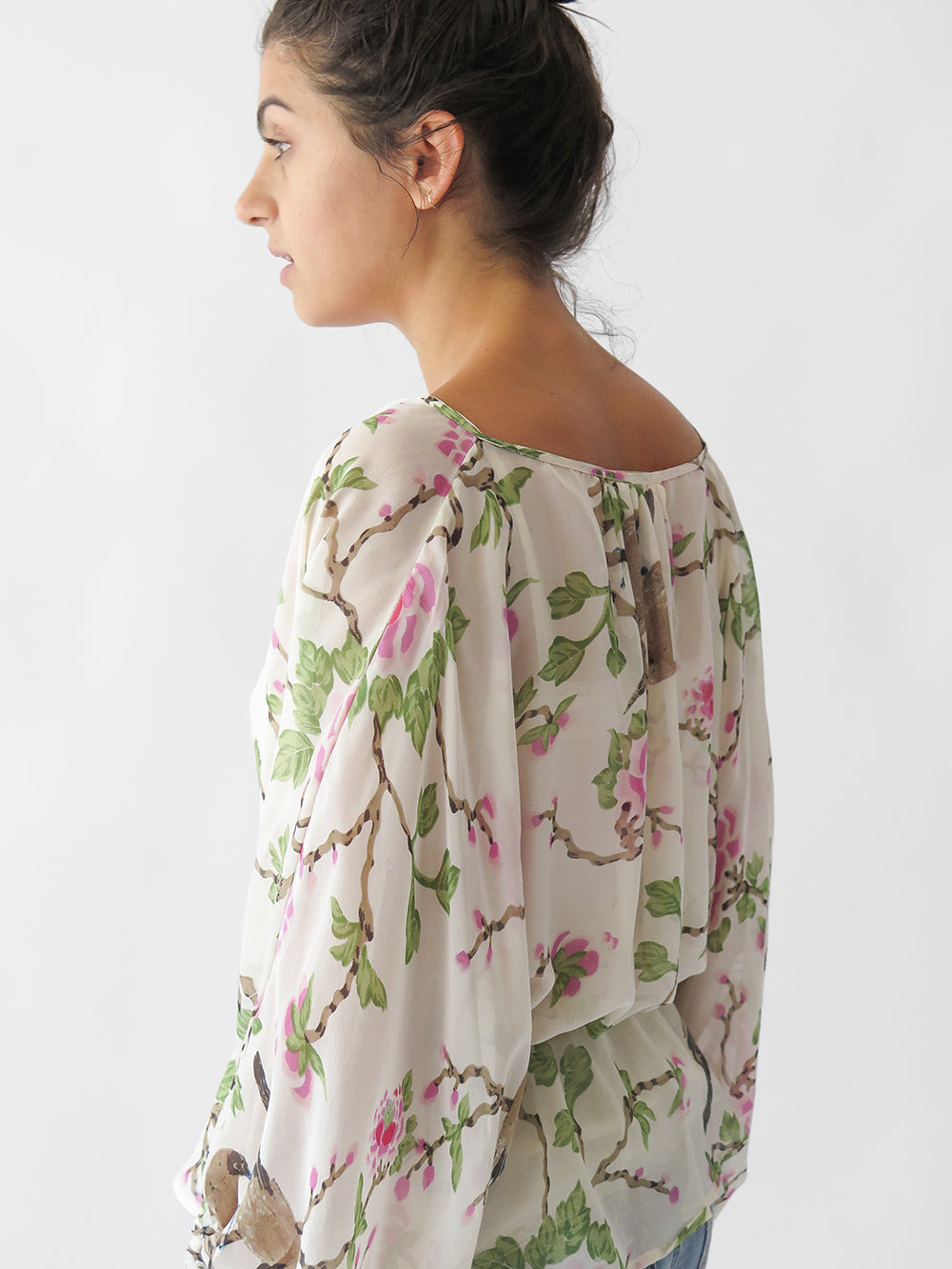 lovebird florian blouse in natural