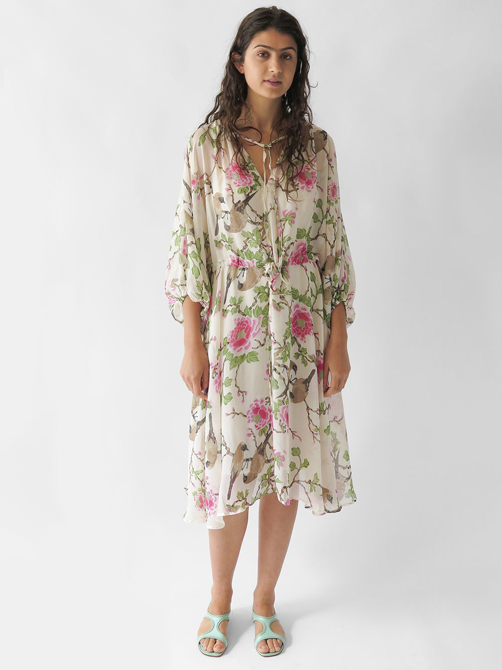 lovebird floriana dress in natural
