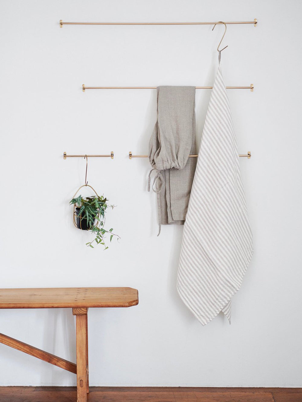 fog linen small brass towel bar