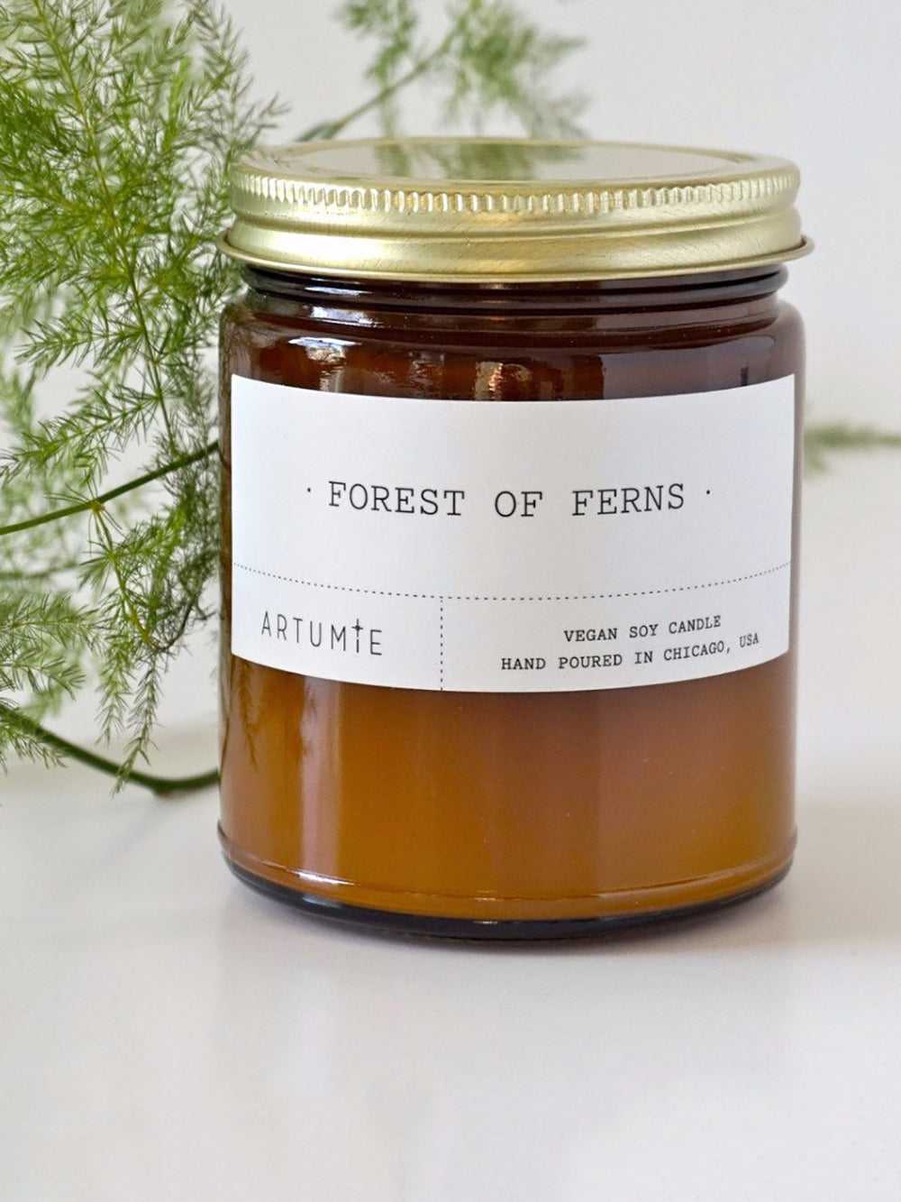 artumie studio forest of ferns candle
