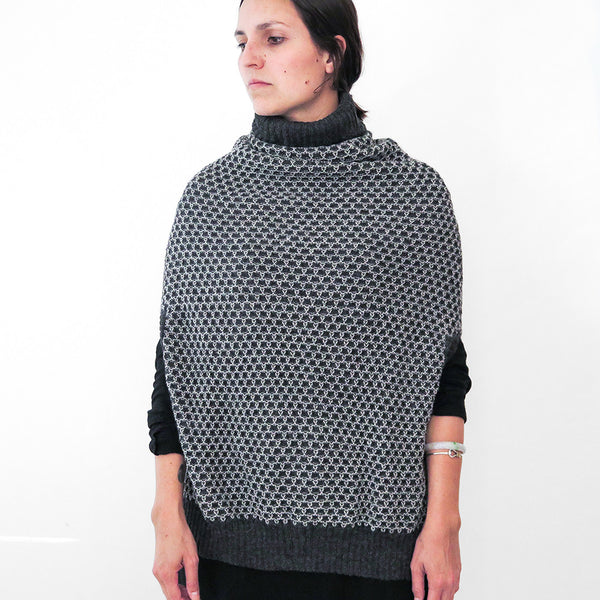 alpaca funnel neck poncho