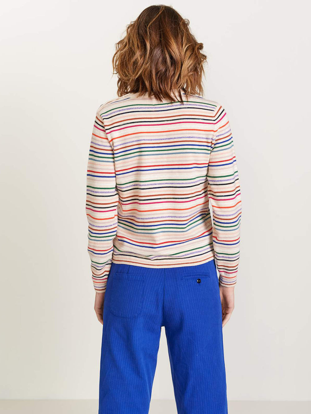 bellerose gopew sweater in stripe a