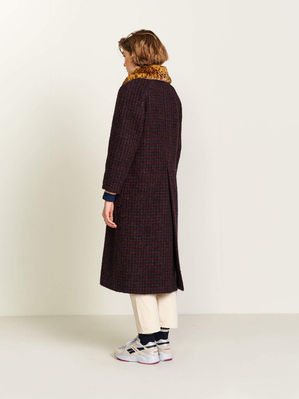 bellerose haider coat in check a