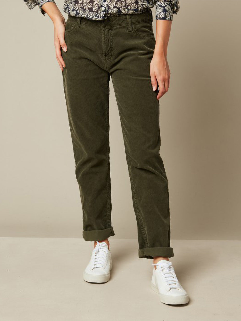 hartford pencil pant in army