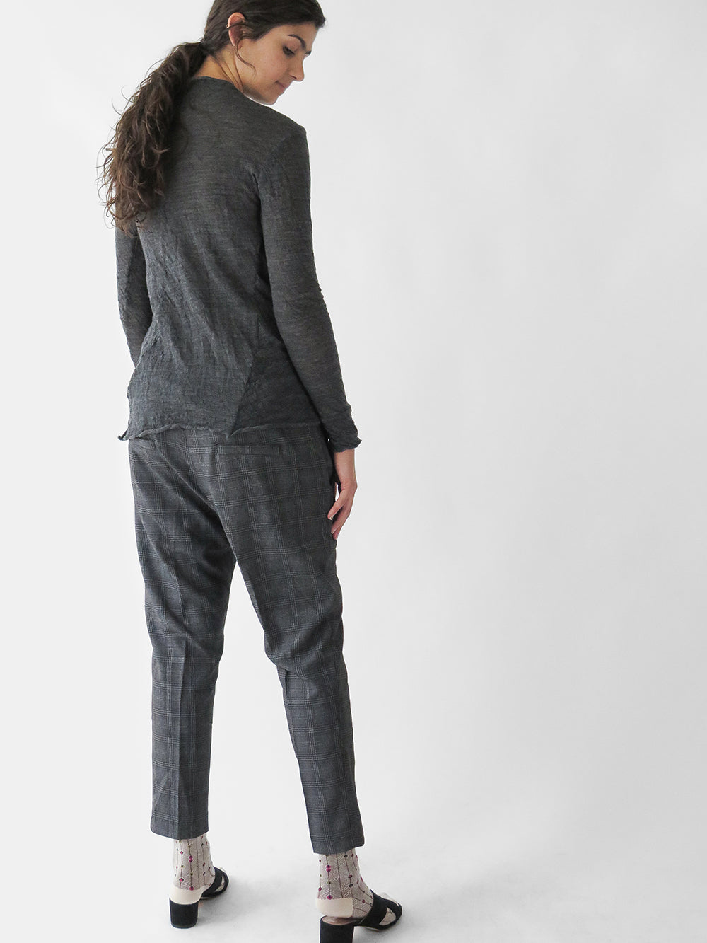 hazel brown skinny trouser in grey
