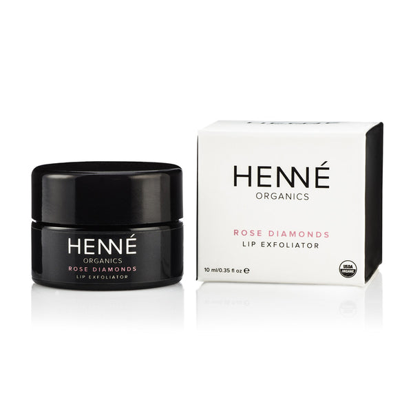 henné organics rose diamonds lip exfoliator