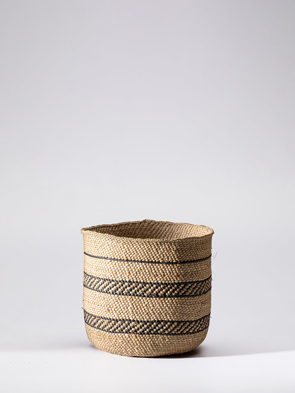 small iringa basket in natural + black