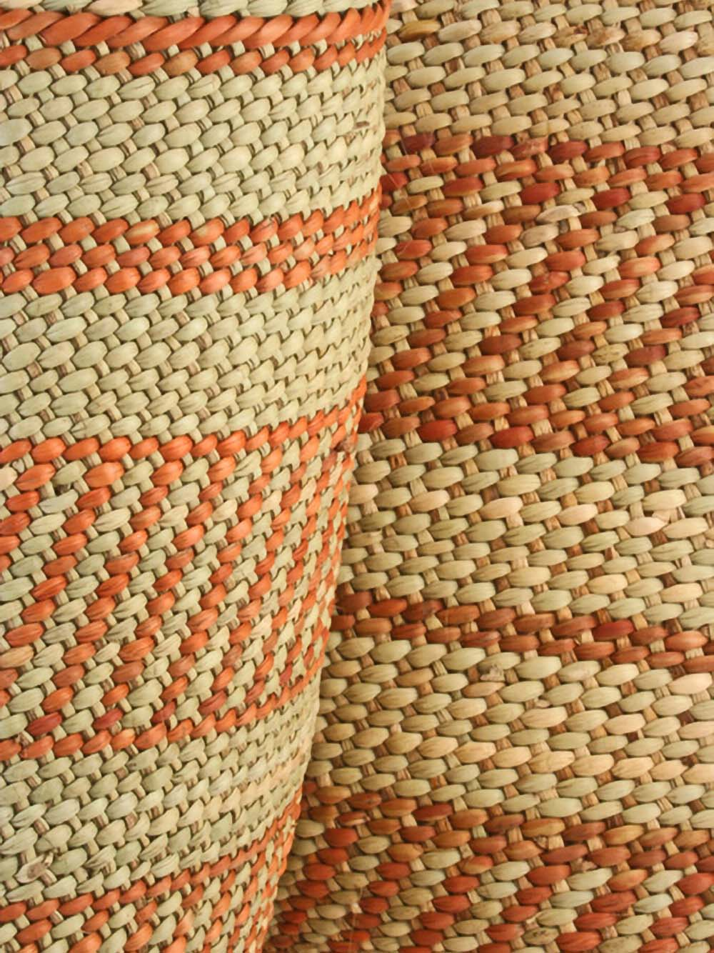 small iringa basket in natural + umber