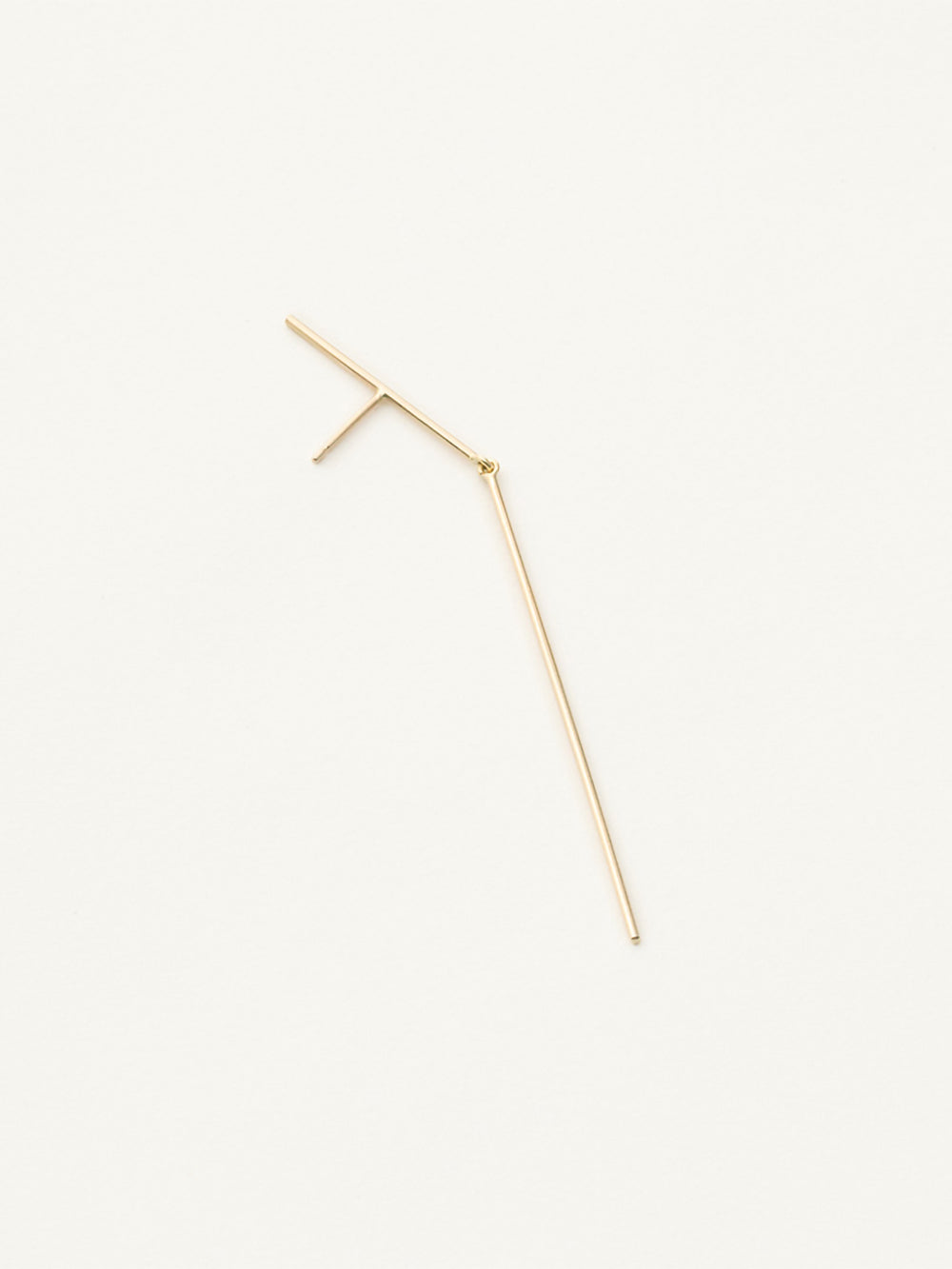 kathleen whitaker gold stick + strand earring