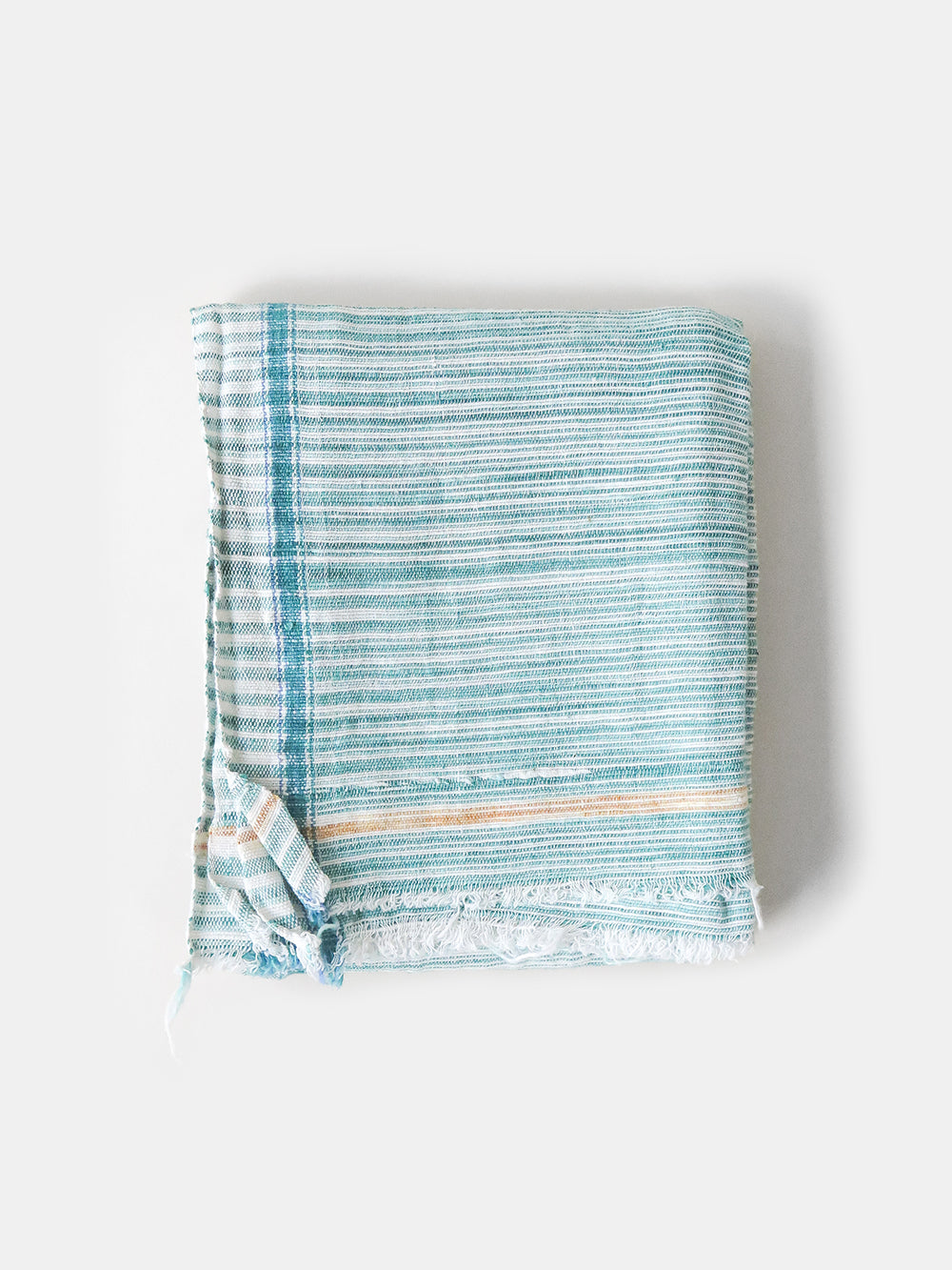 khadi cotton towel in green