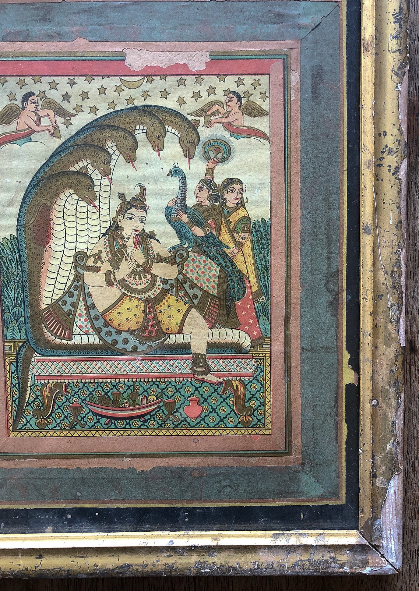 hand-painted portrait of krishna