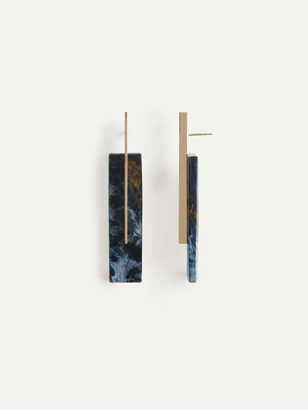 kathleen whitaker faceted long pietersite studs