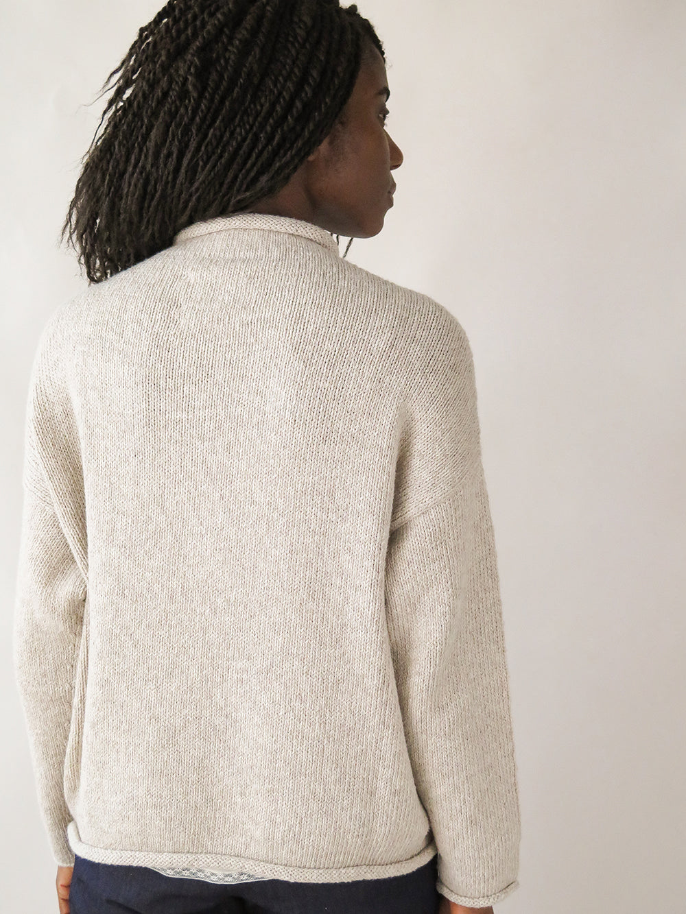 lauren manoogian bateau rollneck in oatmeal