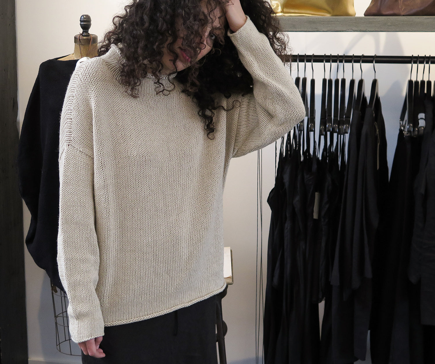 lauren manoogian bateau rollneck sweater