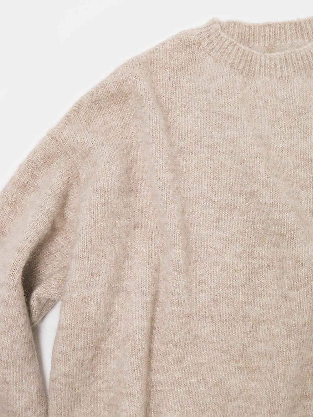 lauren manoogian fluffy crewneck in hay