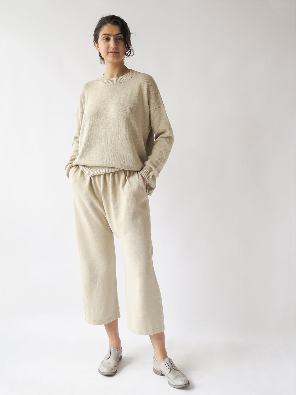 lauren manoogian folk peg pant in natural