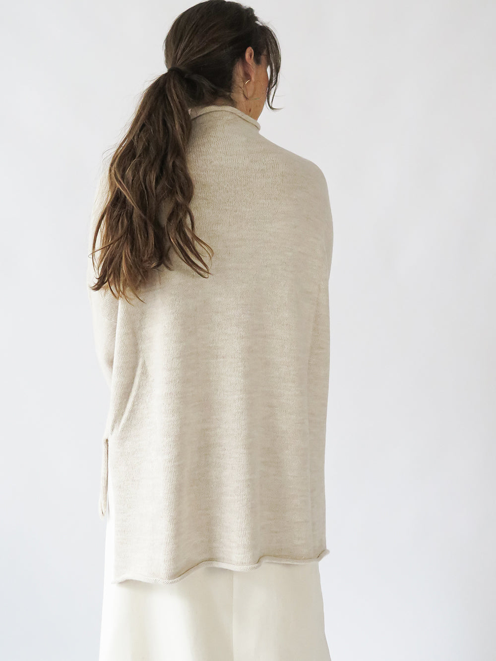 lauren manoogian oversize rollneck in hessian