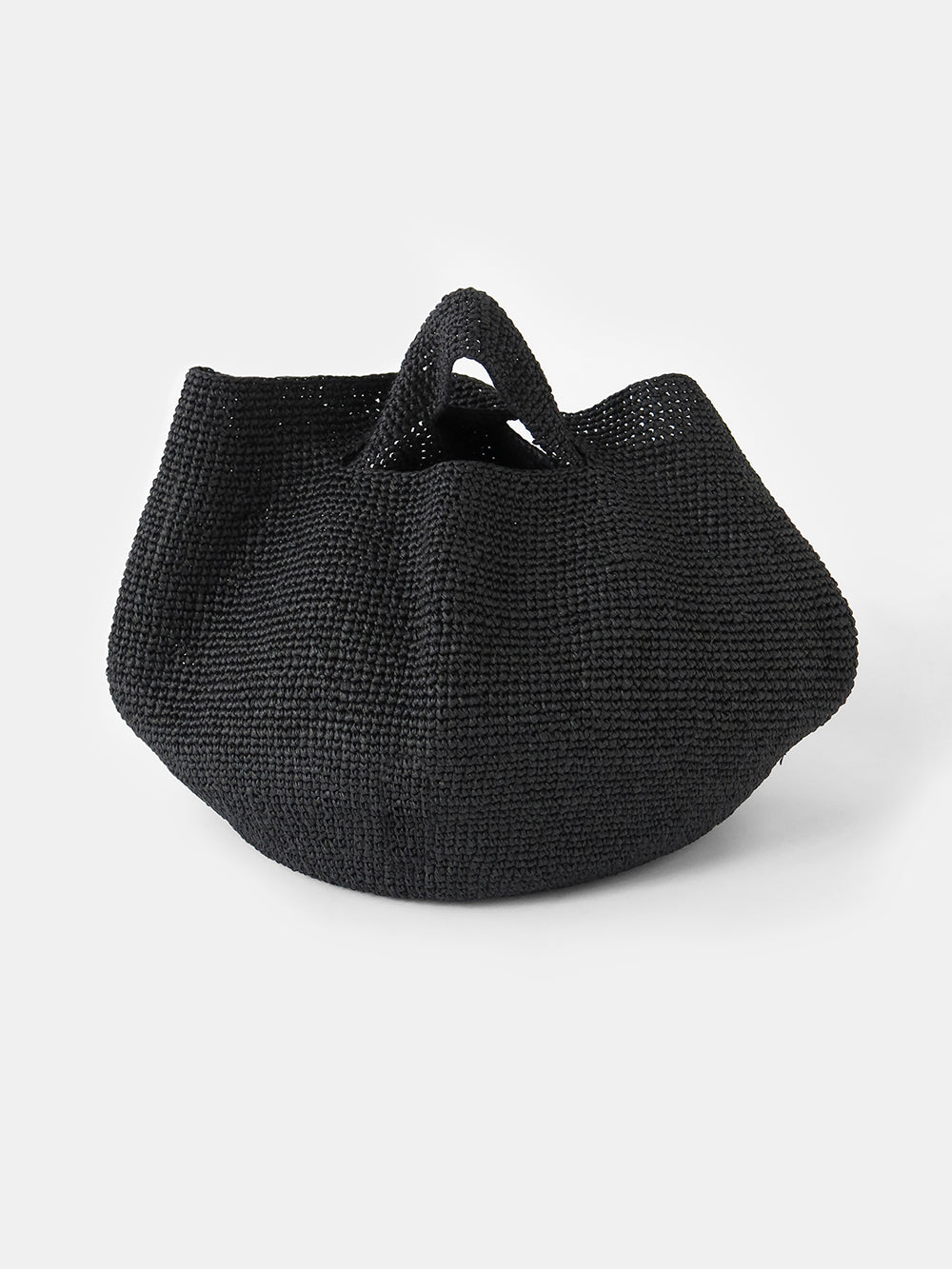 lauren manoogian paper bowl bag in black