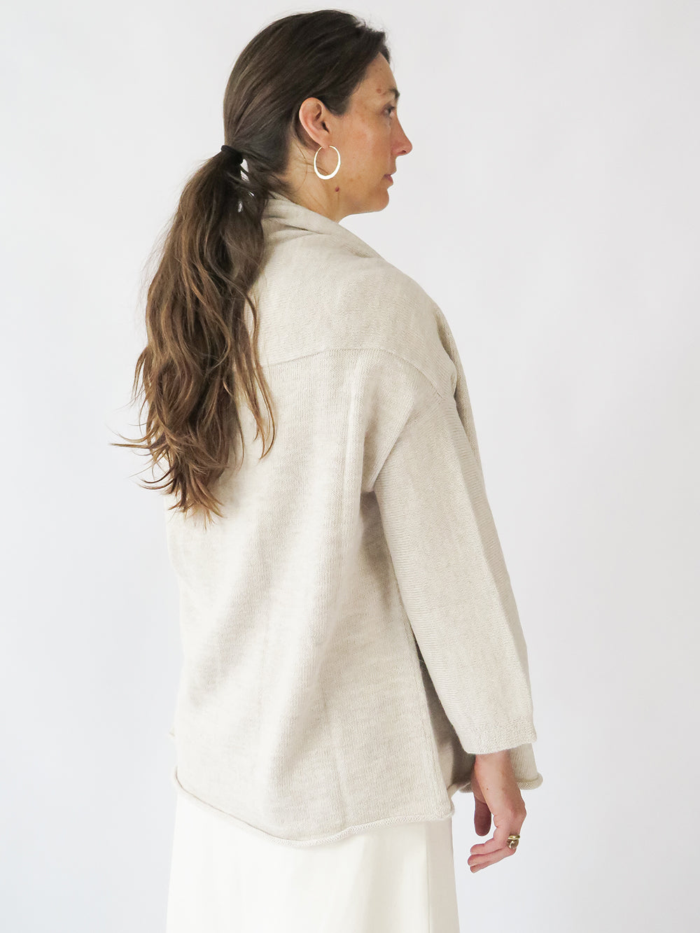 lauren manoogian slouch cardigan in hessian